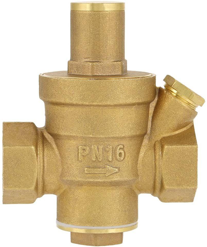 Amazon: Válvula reductora de presión, DN15 1/2 pulgada Válvula reductora de presión de agua de latón Control de agua.