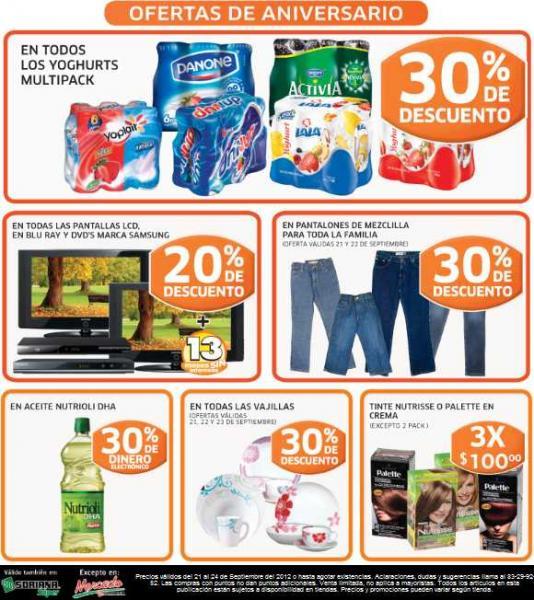 Soriana: 30% de descuento en vajillas, yoghurts multipack y jeans y 20% en TVs LCD Samsung y más