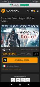 Fanatical: Assassin's Creed : Rogue Deluxe Edition- PC - Ubisoft Launcher