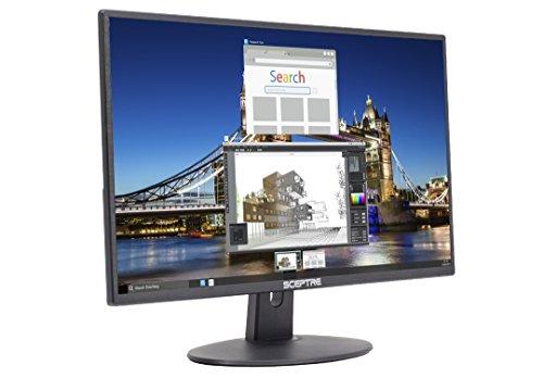 Amazon: Monitor Sceptre E205W-16003R - Monitor LED sin Marco ultradelgado HDMI VGA, con bocinas incorporadas, Negro metálico