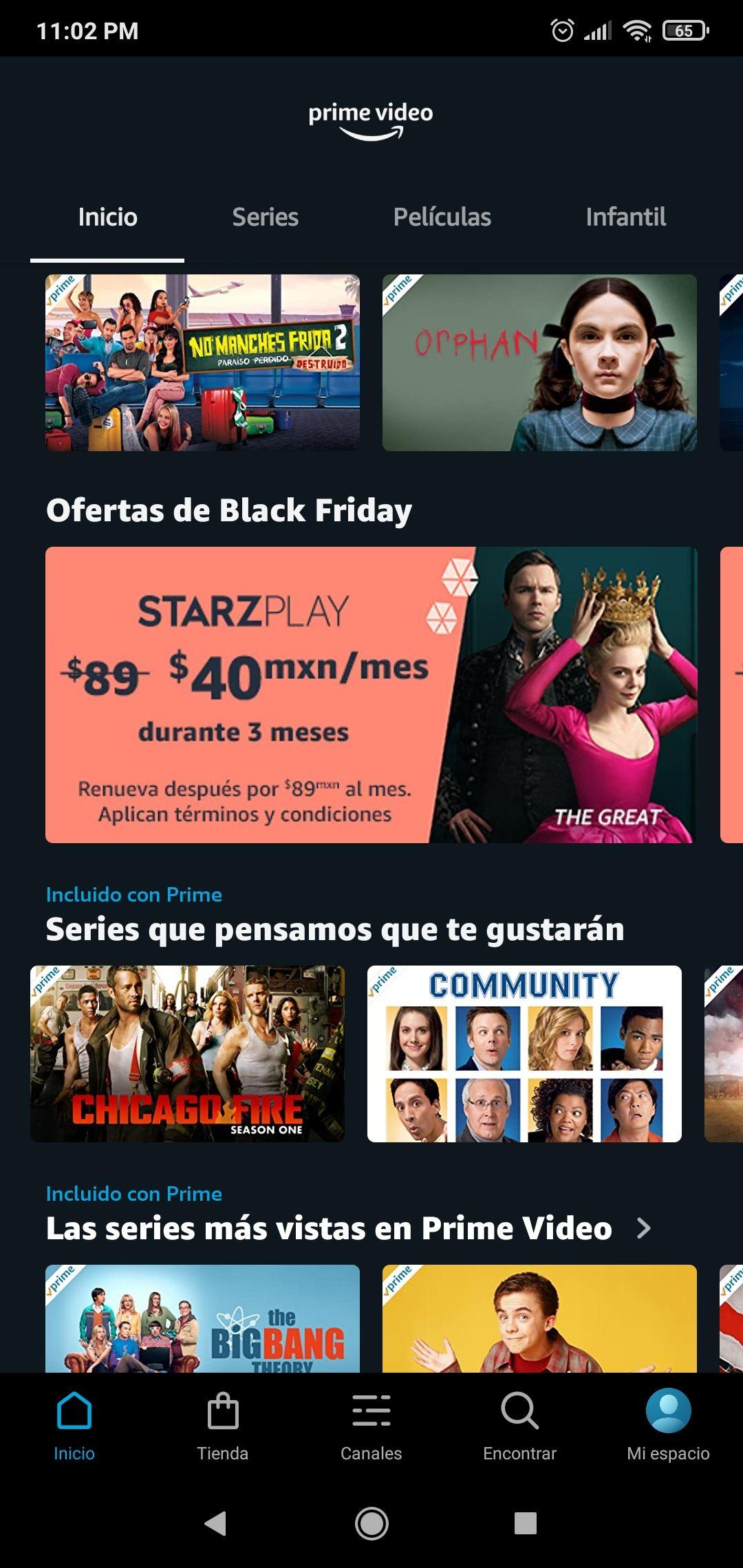 Ofertas Black Friday Prime Video Channels: Suscripción desde 25 pesitos por mes los primeros 3 meses