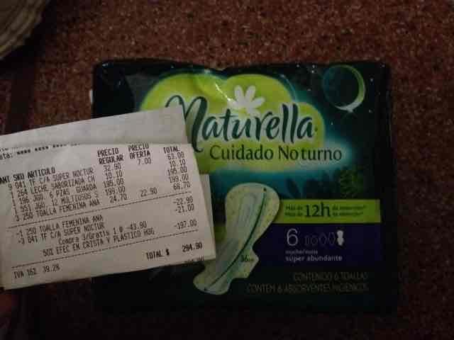 Comercial Mexicana: Toallas nocturnas Naturella Cuidado nocturno a $7 (entran en el 3X2 y quedan a $4.66)