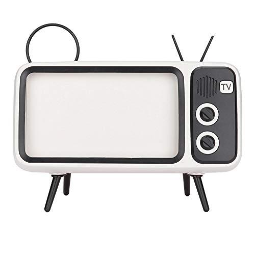 Amazon: Altavoz Bluetooth Retro en Forma de TV para Teléfono 6'' (Blanco)
