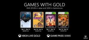 Xbox Games with Gold diciembre