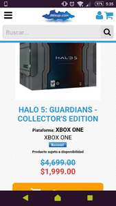 Mixup: Halo 5: Guardians Collectors edition a $1,999