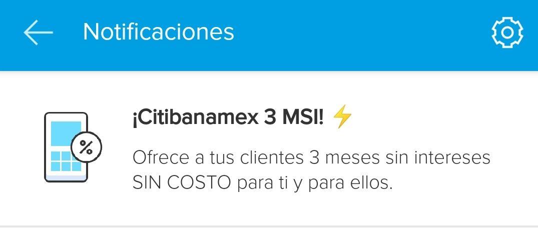 Mercado Pago: citibanamex en point blue a 3 meses sin intereses