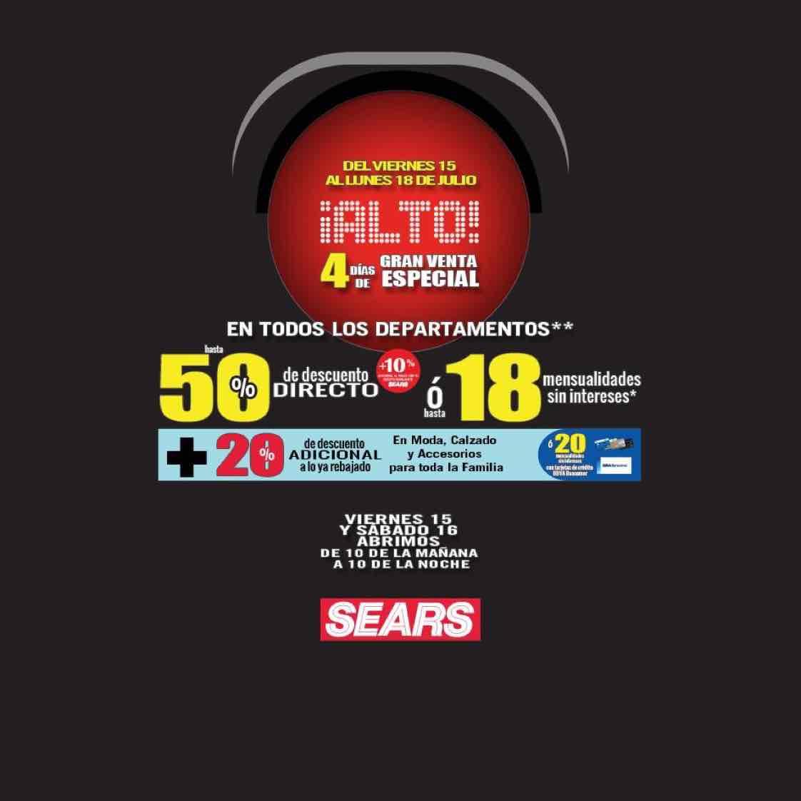 Sears: 4 días de venta especial