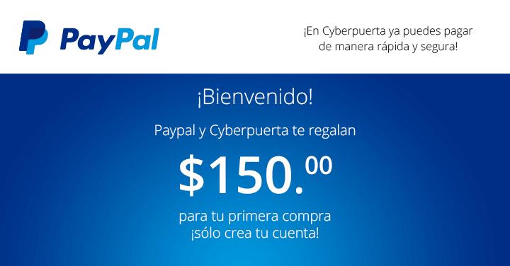 Cyberpuerta: $150 de regalo al registrarse