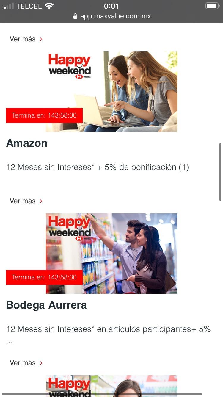 HSBC Weekend 5% bonificación Amazon, mercadolibre , paypal (25 al 30 de Noviembre)