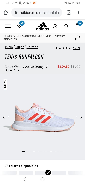 Adidas: Tenis adidas con el 50 % de descuento