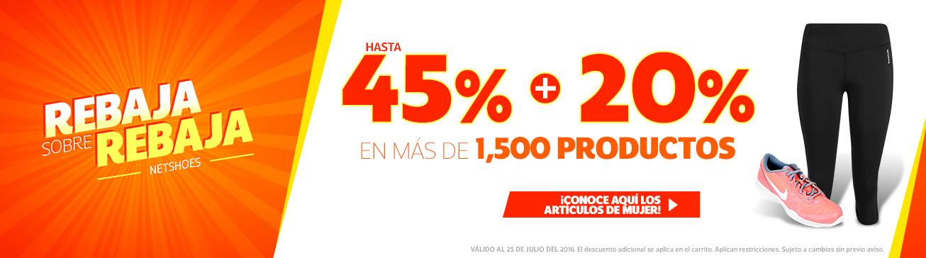 NetShoes: 45% + 20% adicional