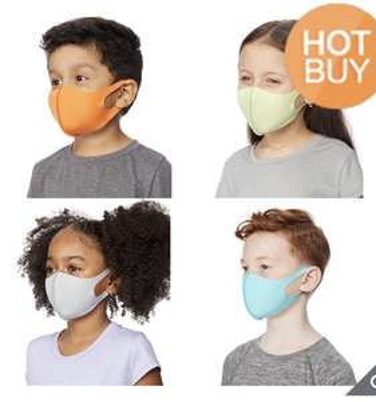 Costco: 4 cubrebocas para niños marca 32 degrees