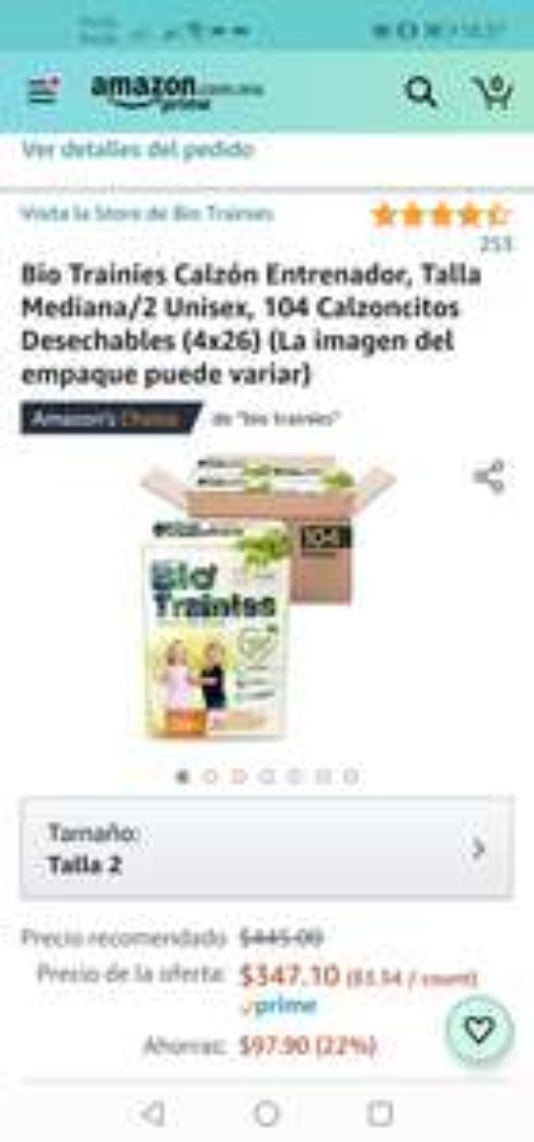 Amazon Bio Trainies Calzón Entrenador