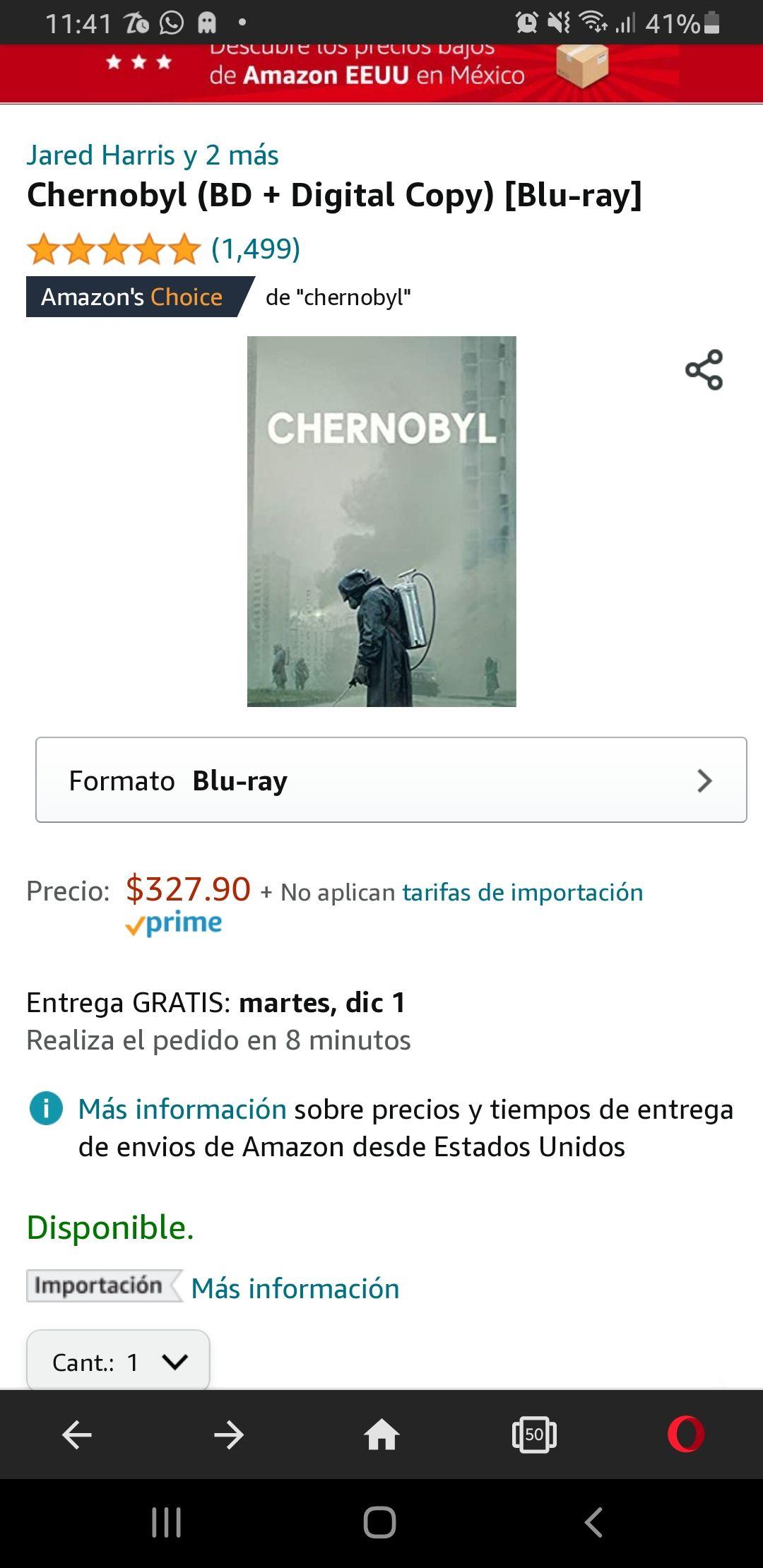 Amazon MX: Chernobyl bluray y copia digital