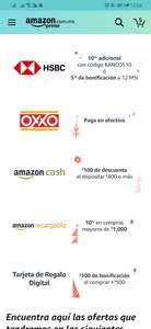 Amazon: 10% de descuento Amazon recargable y 100 pesos en saldo de amazon al recargar 400