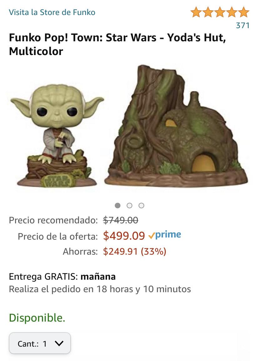 Amazon: Funko Pop! Town: Star Wars - Yoda's Hut