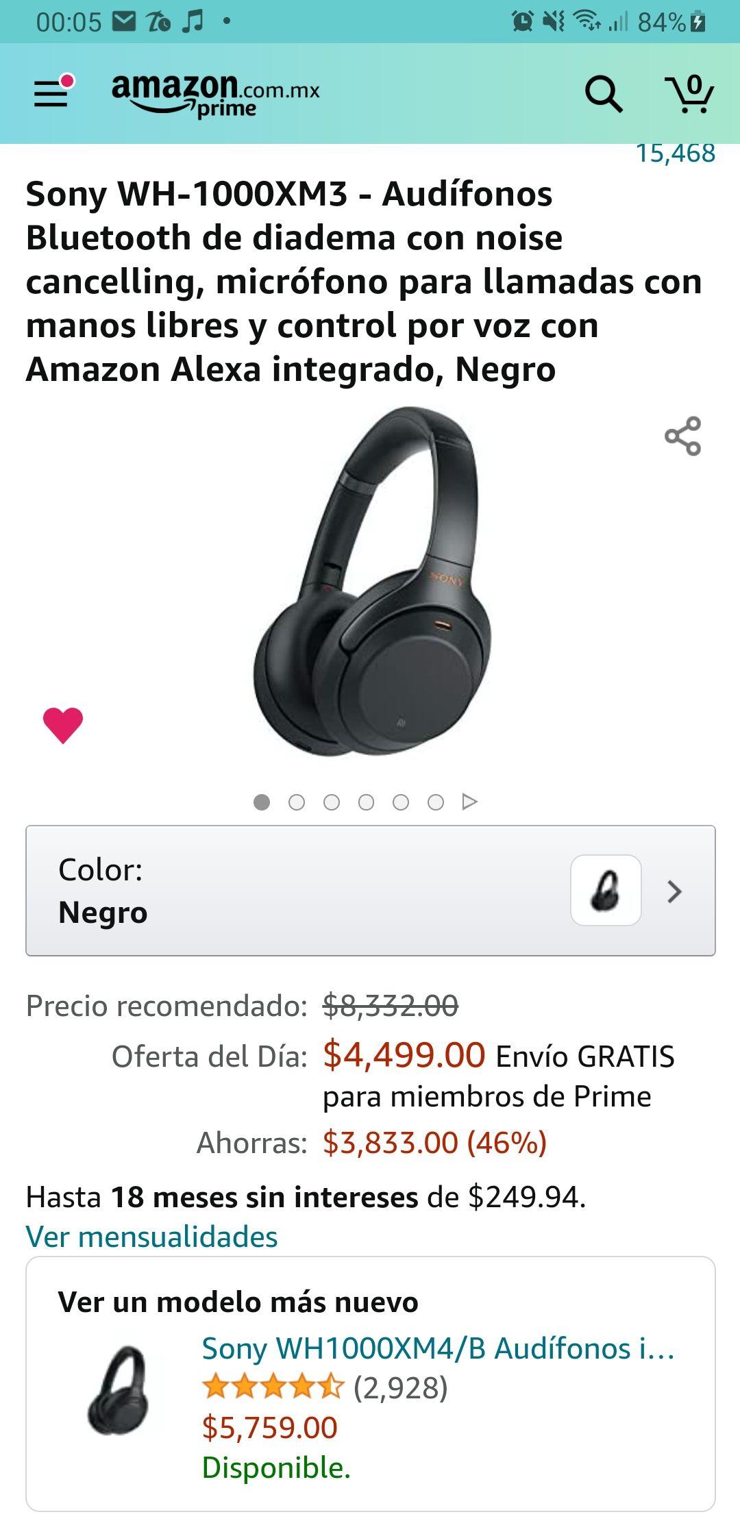 Amazon: Audifonos Sony WH-1000XM3
