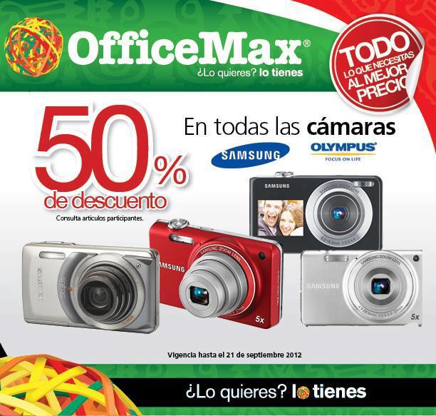 OfficeMax: 50% de descuento en cámaras Samsung y Olympus, 3x2 en tintes y toners y má (actualziado)