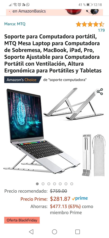 Amazon: Soporte para Computadora portátil