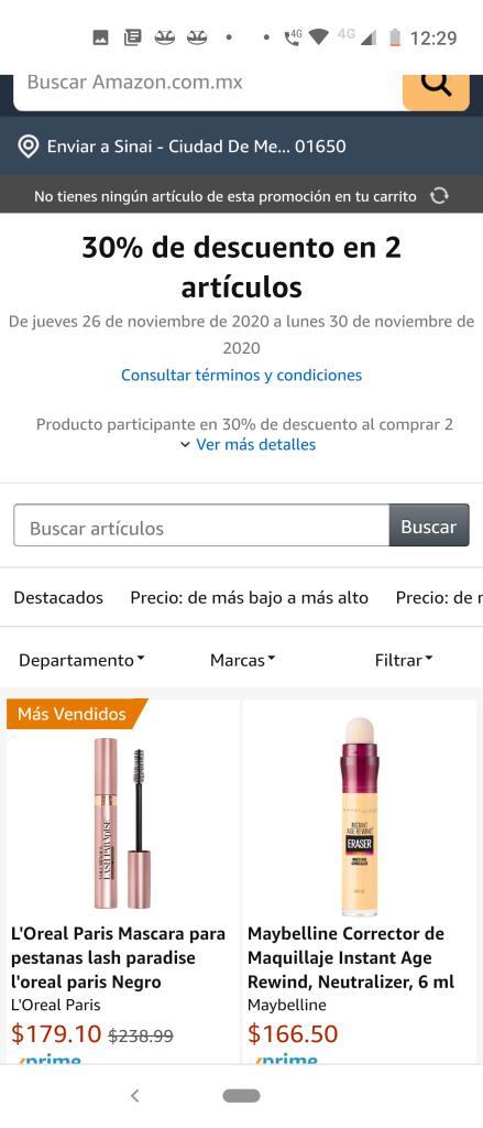 Amazon : 30 % de descuento en la compra de 2 productos salud y belleza artículos