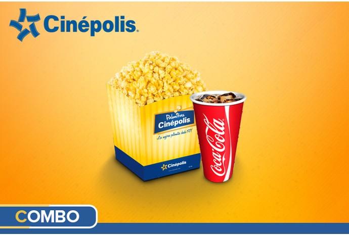 Clickonero: Combo palomitas y refresco medianos para Cinépolis a $60