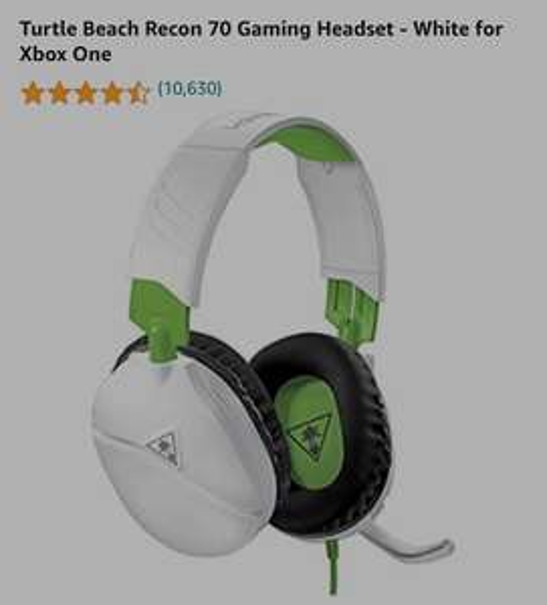 Amazon: Turtle Beach Recon 70 Gaming Headset - White for Xbox One