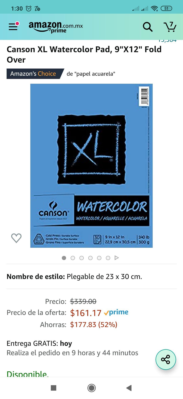Amazon: Canson watercolor XL