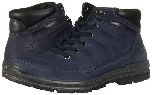 amazon: botas flexi para hombre en color azul.