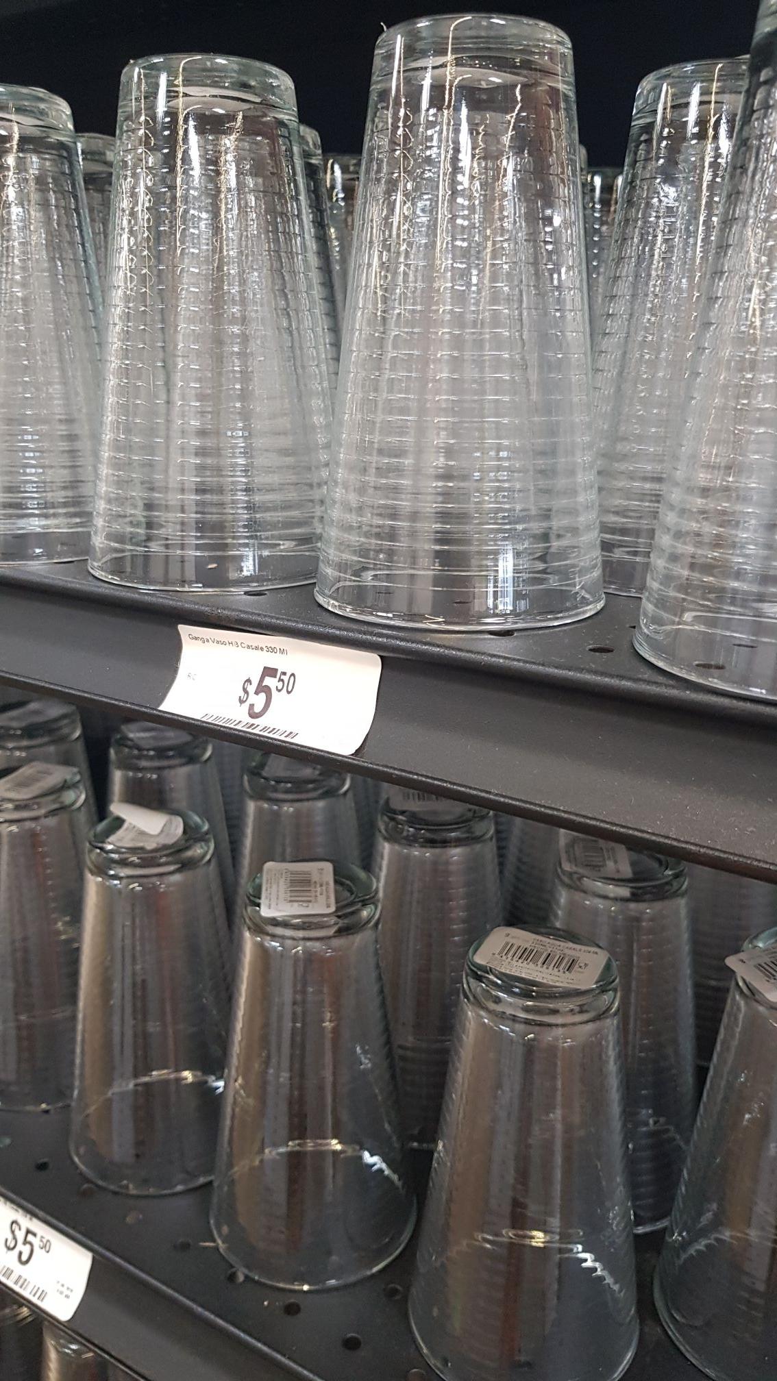 Vasos de cristal de 330 ml, chedraui tienda física y app
