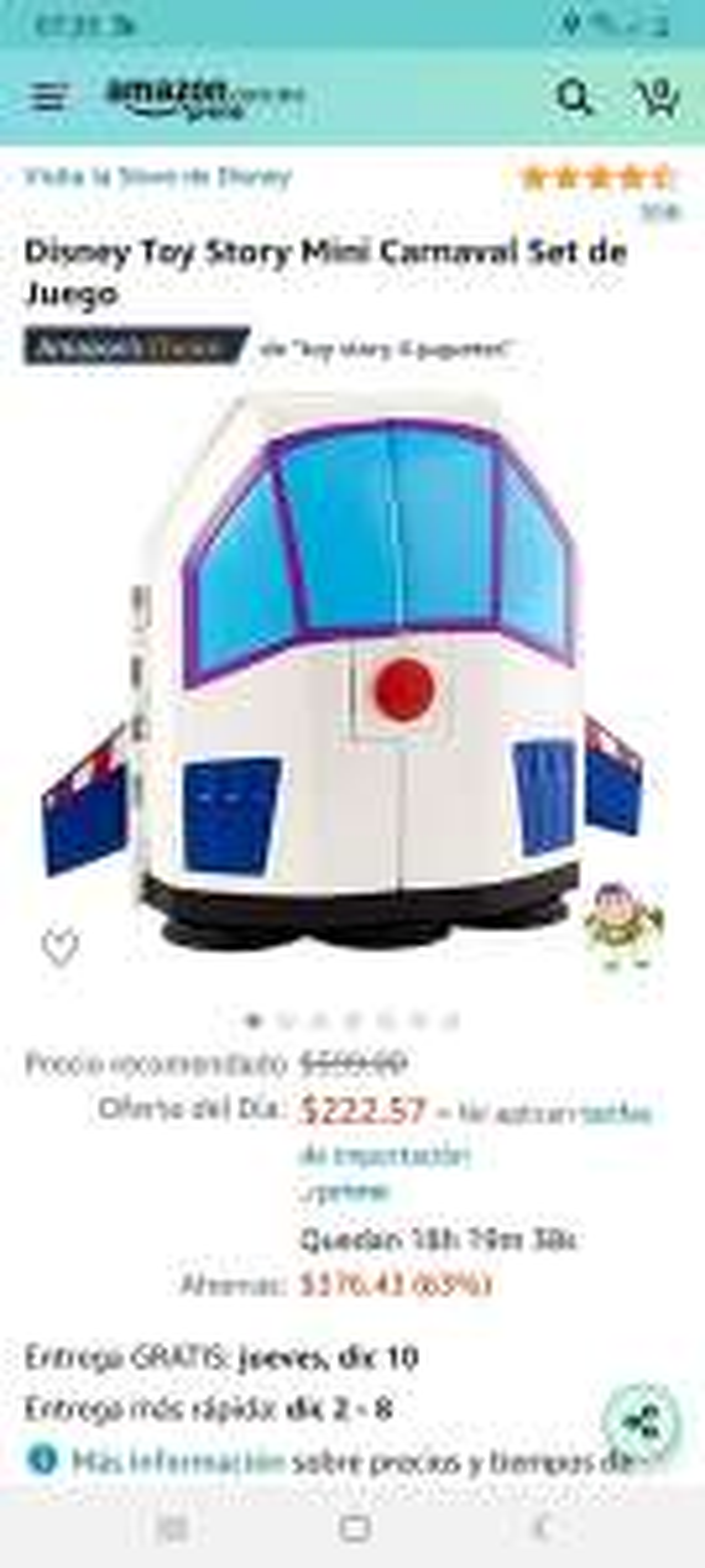 Amazon: Disney toy story Mini carnaval