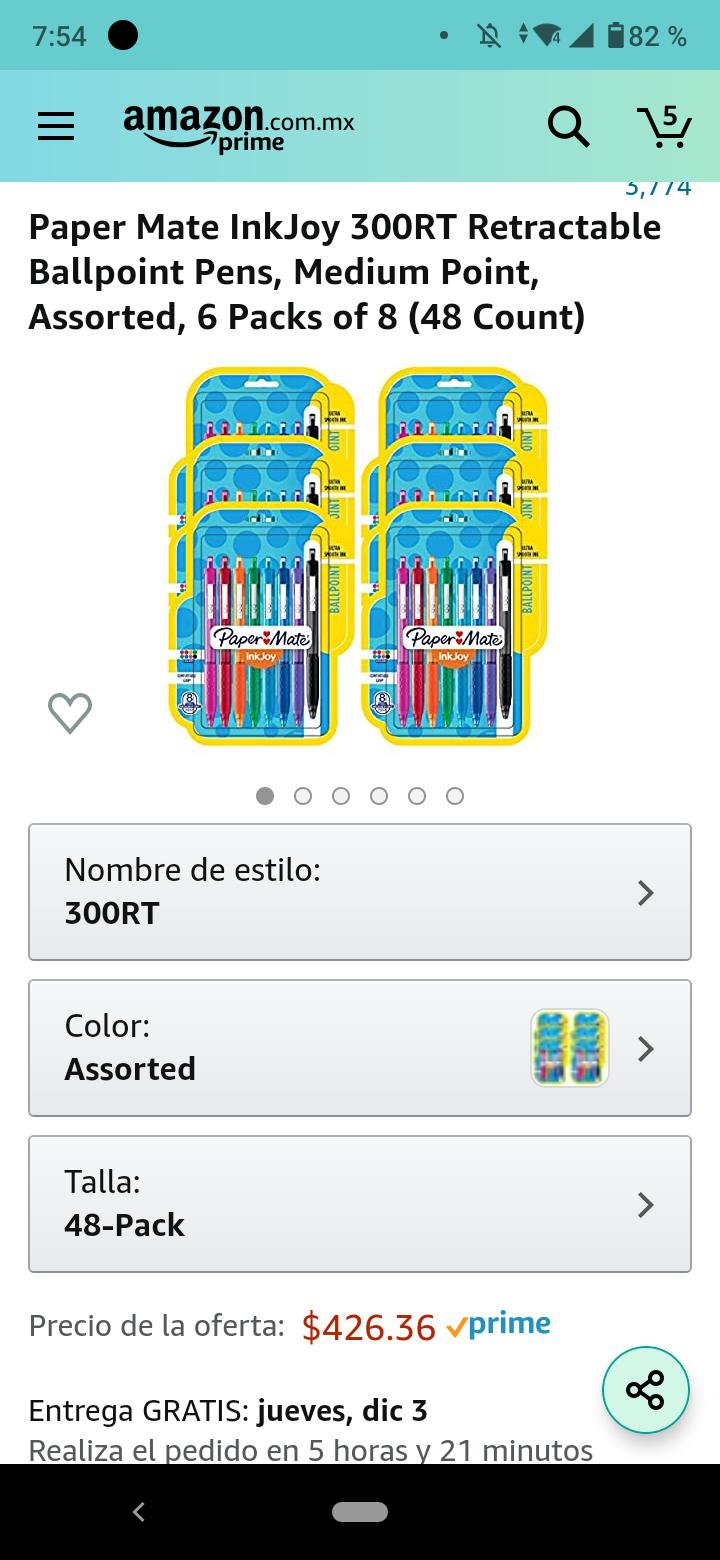 Amazon: Papermate inkjoy 300RT