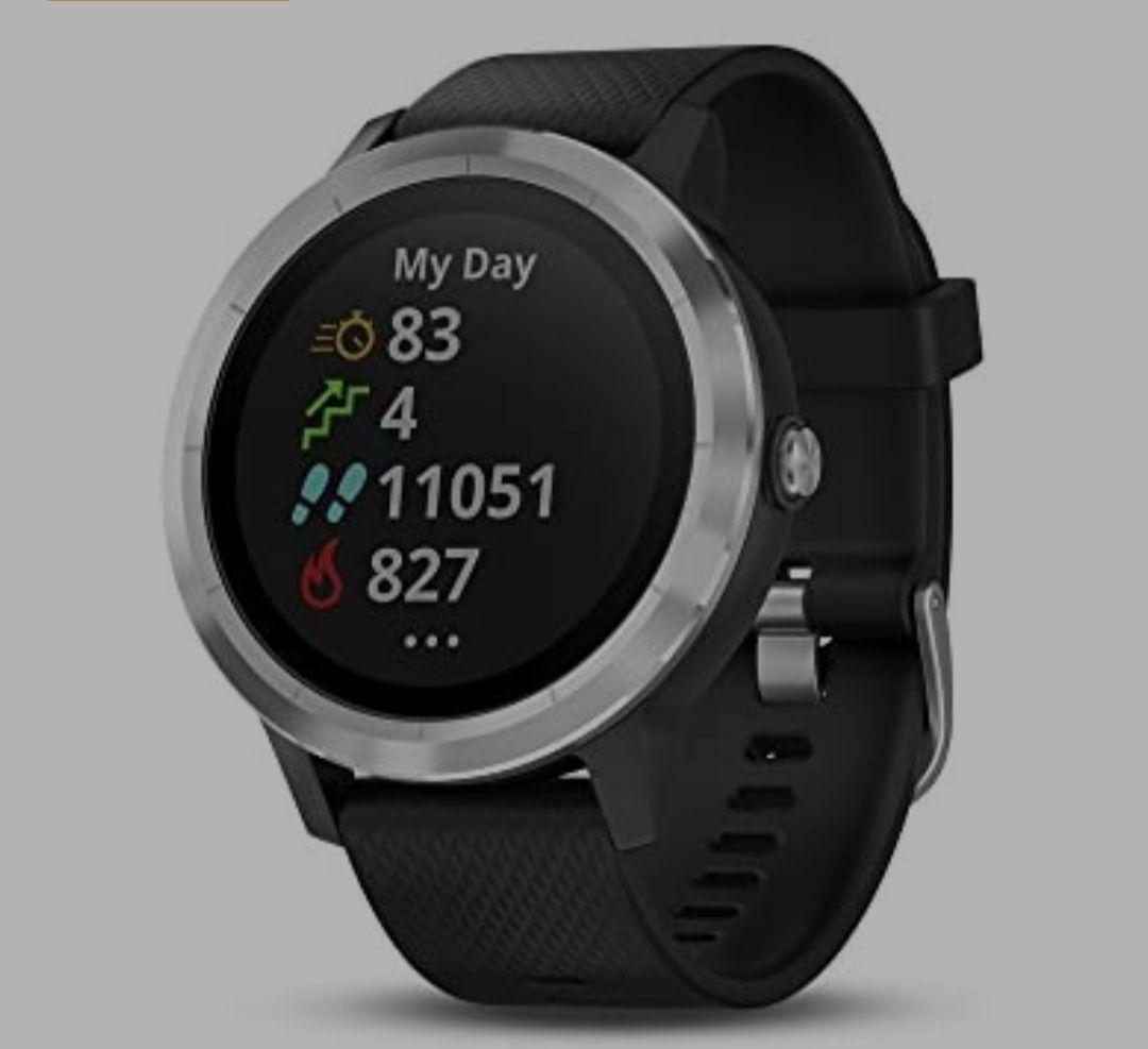 "Amazon: Garmin Vívoactive 3 Reloj inteligente con GPS, Estándar, 1.2"""