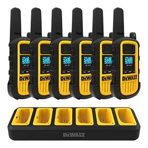 Amazon: Dewalt paquete de 6 walkie talkies con cargador