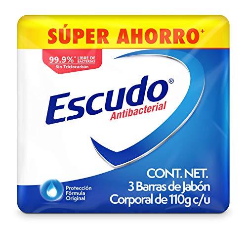 Amazon: Escudo Antibacterial, Jabón de Tocador Protección Fórmula Original, 3 barras de 110gr