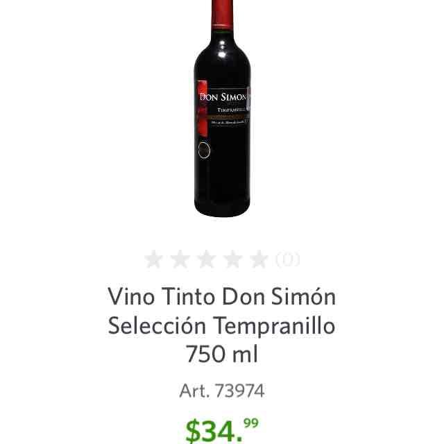 Sam's Club en línea: Vino Tinto Don Simón Selección Tempranillo 750 ml