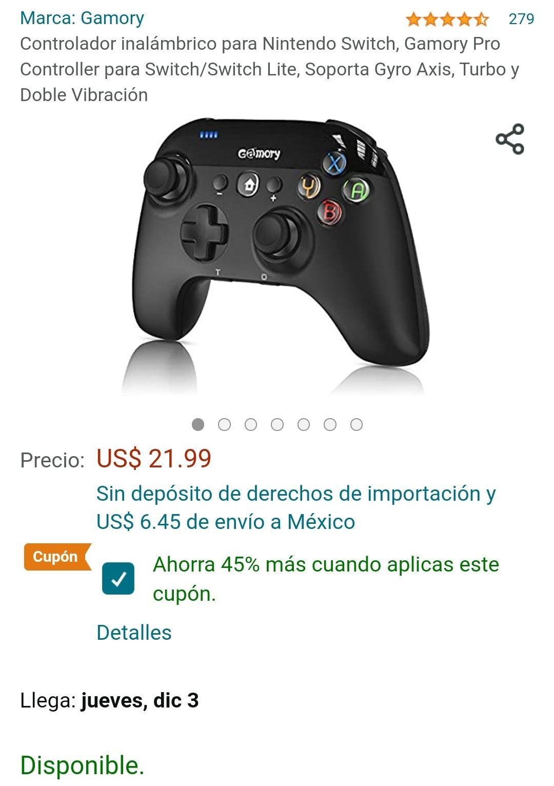 Amazon: Control Nintendo Switch/Lite
