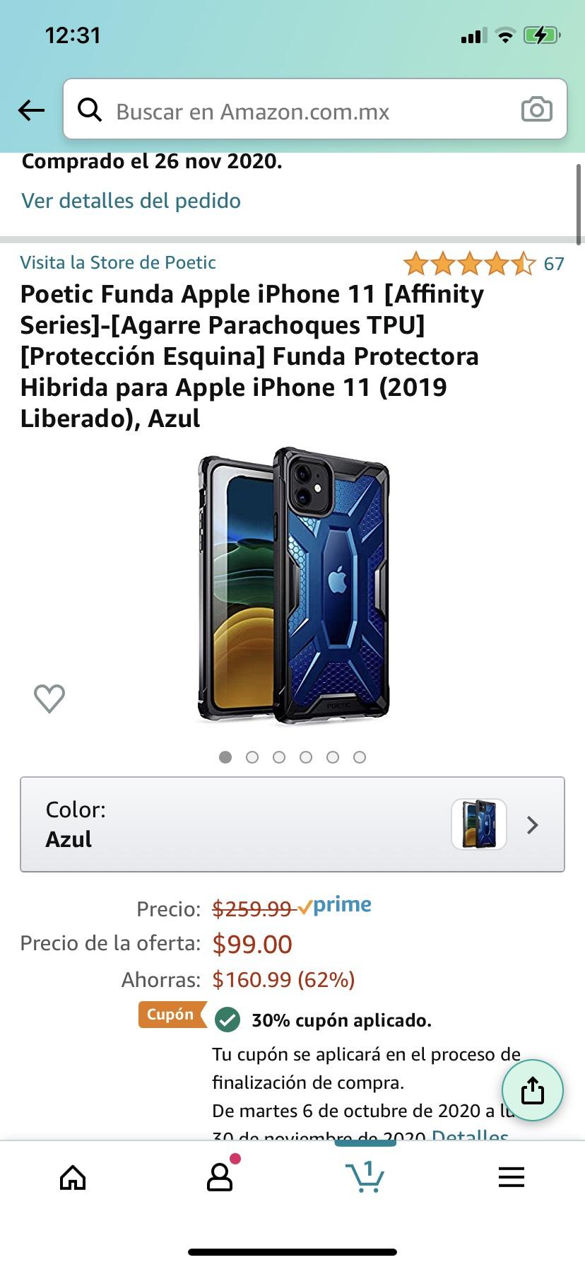 Amazon: funda iPhone 11( Prime)
