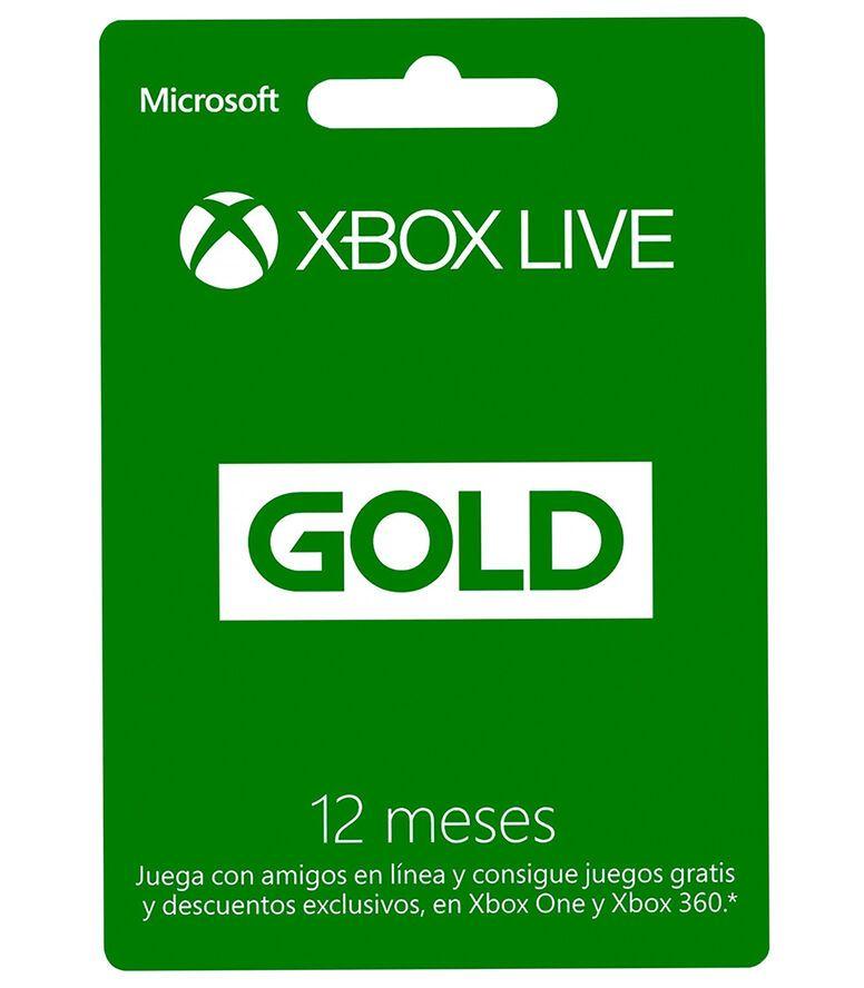 Palacio de Hierro: Tarjeta Xbox Live Gold 12 Meses