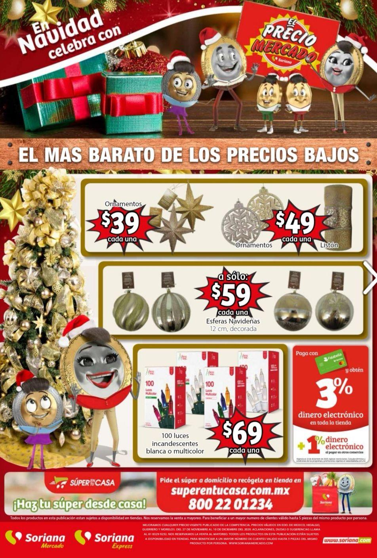 Soriana Mercado y Express: Folleto de Ofertas Quincenal del Viernes 27 de Noviembre al Jueves 10 de Diciembre