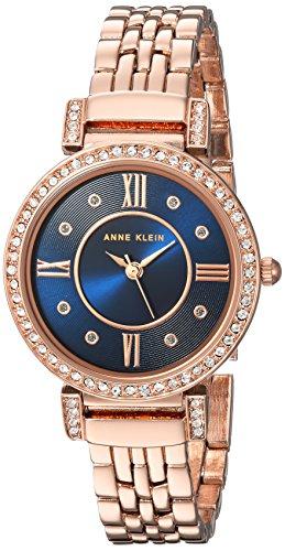 Amazon: Reloj con cristales Swarovski Anne Klein para mujer color oro rosa