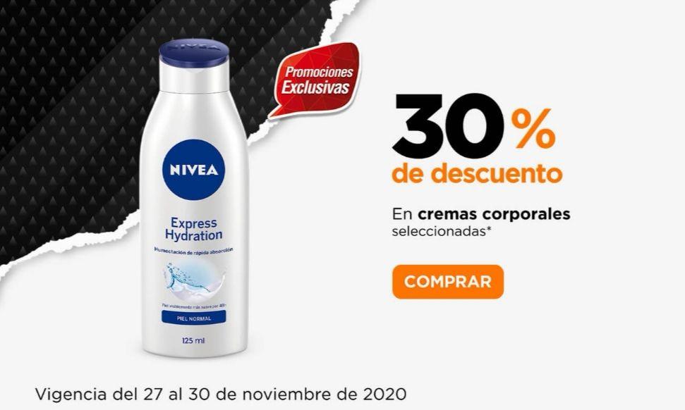 Chedraui: 30% de descuento en todas las cremas corporales Nivea