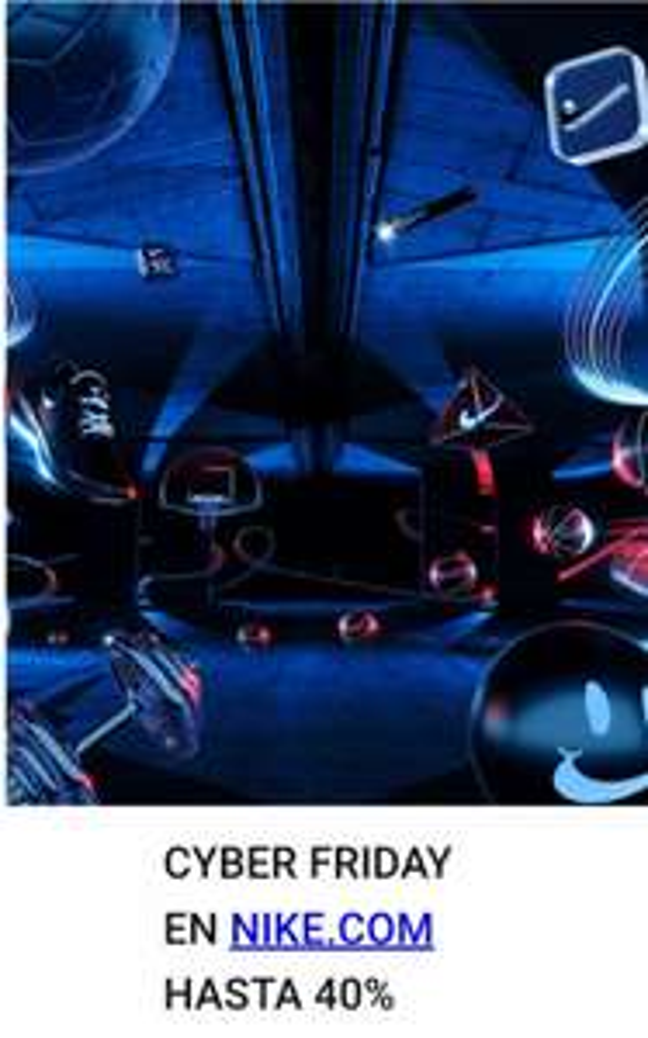 Nike: Hasta 40% en seleccion especial Ciber Friday