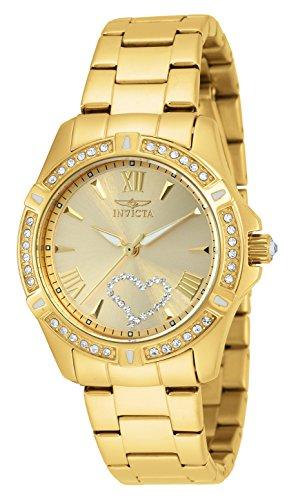 AMAZON - Invicta 21384 Angel - Reloj de acero inoxidable chapado en oro de 18 quilates para mujer