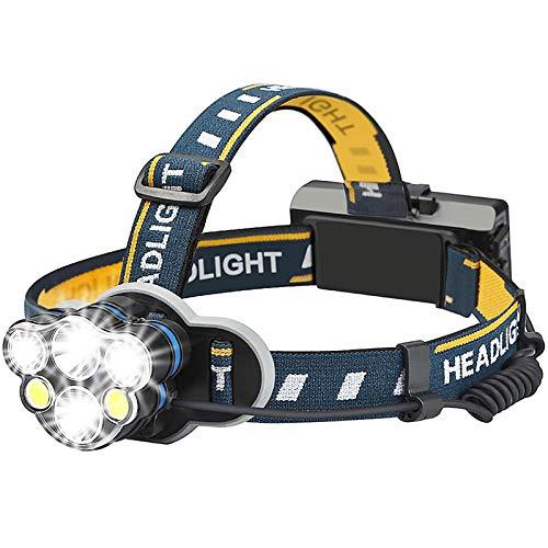 Amazon: Oferta relampago Lámpara de cabeza Lámpara Led Recargable Lámpara Minero Impermeable Headlamp 8 Modos - Jasonwell Linterna LED