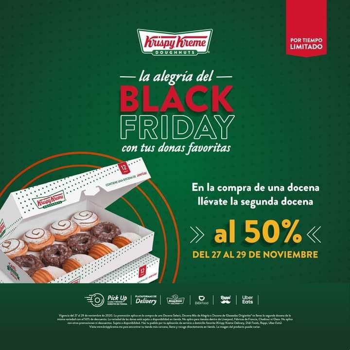 Krispy kreme black Friday: segunda docena al 50%