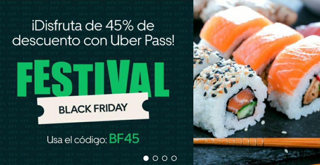 45% Descuento Uber eats