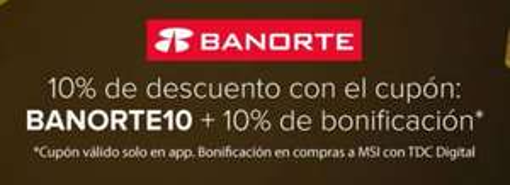 Cyber Ofertas en MercadoLibre: Cupón 10% de descuento + 10% de bonificación con Banorte(del 27 al 30)