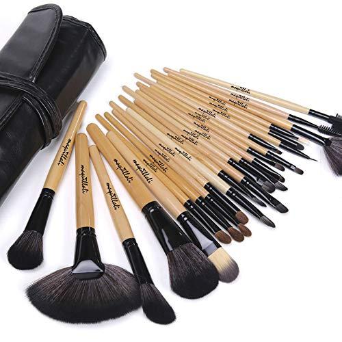 Amazon mx: Maquillali Set 24 brochas para maquillaje (Madera Original) (envio gratis con prime y >$499)