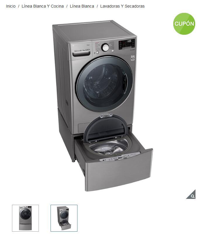 Costco Lavasecadora LG de 22 / 13Kg + twin wash mini