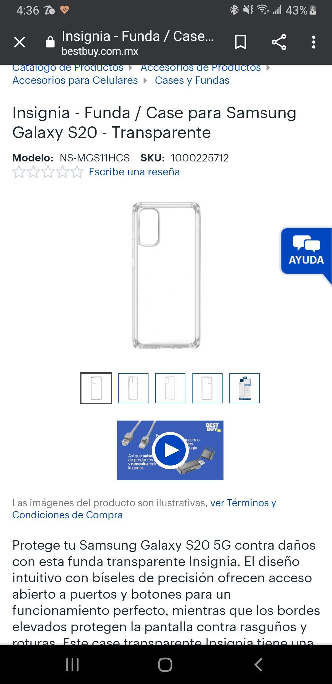 Best Buy: Funda para s20 Samsung